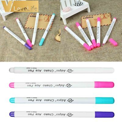 4 Pcs Patchwork Needlework Water Erasable Pen Fabric Marker Soluble Cross Stitch