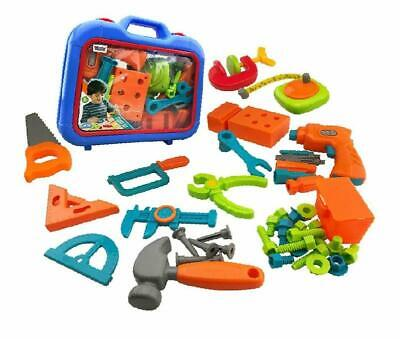 Kids Boys Toys Tool Sets Play Toolbox with Electronic Cordless Drill Popular Gif