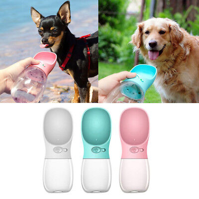 350ML Puppy Dog Cat Pet Water Bottle Cup Drinking Travel Portable Feeder Tool AU