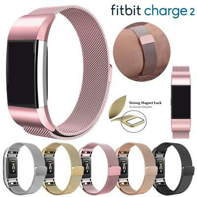 For Fitbit Charge 2 Strap Replacement Milanese Band Stainless Steel Magnetic OS