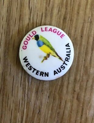 Western Australia WA Gould League Badge Pin Gouldian Finch