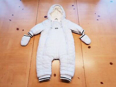 HUGO BOSS Designer Baby Boy's Blue Pramsuit Snowsuit Size 3 to 6 Months