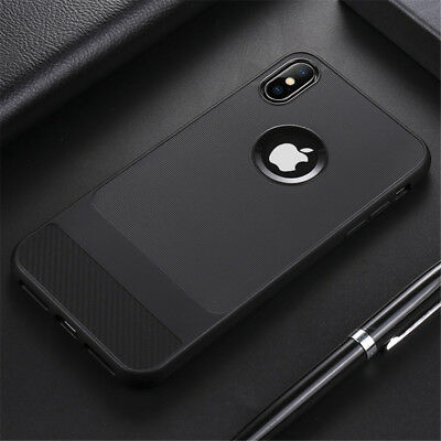 For Apple iPhone X XS Max XR Shockproof Thin Soft Silicone TPU Back Case Cover