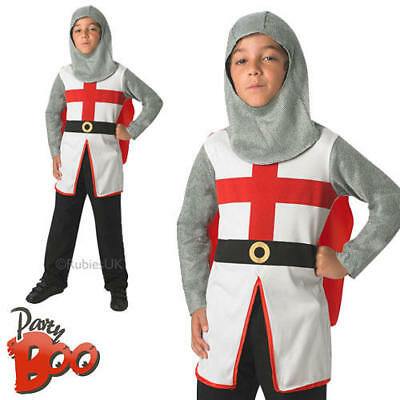 Medieval Knight Boys Fancy Dress St Georges Crusader Kids World Book Day Costume
