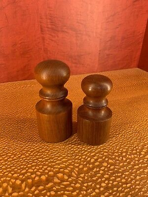 Pair Teak Dansk Salt & Pepper Mill Peppermill JHQ IHQ Quistgaard Denmark Danish