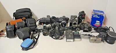 Large Job Lot of Vintage Cameras and Accessories - Spares and Repairs