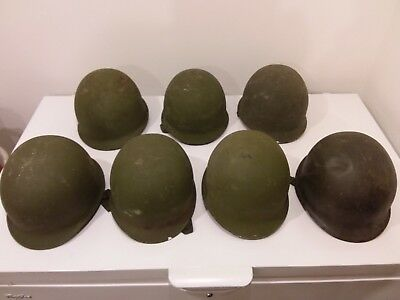 7 WW2 USA Military M1 CS Helmet  Soldier WWII Liner Army Equipment Outdoor US