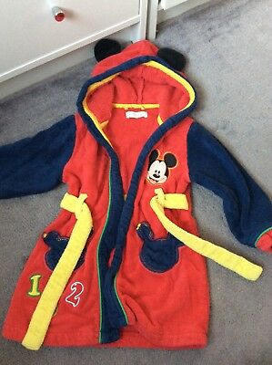 Disney Mickey Mouse Dressing Gown Robe Baby 18-24 Months