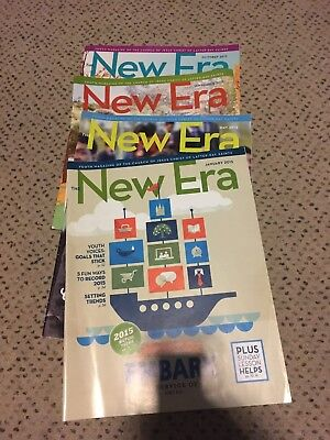 4x Back Issue New Era LDS Mormon Christian  Magazine For Youth 2015