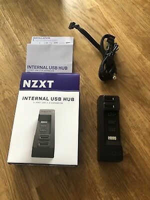 NZXT Internal USB Hub with 3 Internal Connectors and 2 External Connectors