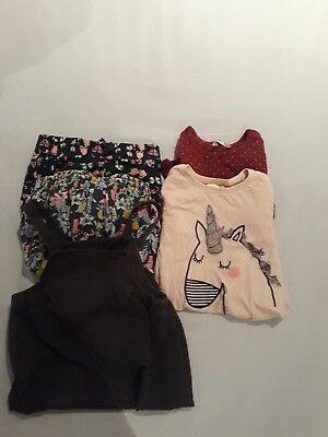 Girls clothing bundle Next M&S John Lewis Unicorn Flowers 4-5
