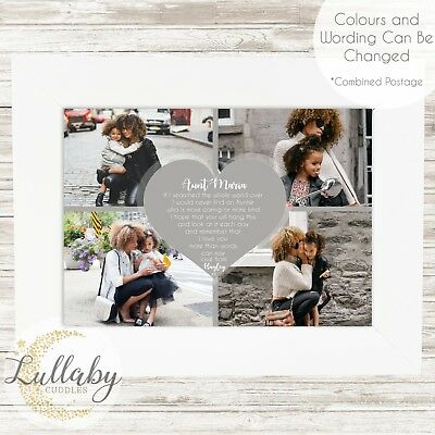 Personalised AUNTIE Photo Collage Word Art Print Birthday Mother's Day Gift
