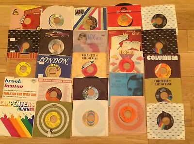 Lot of 25 45 RPM RECORDS Classic Rock Pop Vocal Jazz 50's - 70's