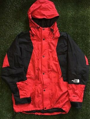 Vintage The North Face Gore-Tex Jacket Coat Lightweight Mountain Men's XL Red