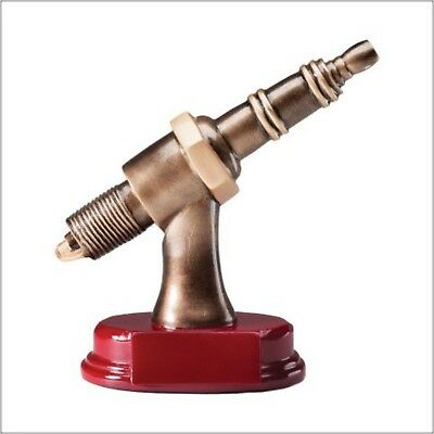 "Spark Plug Resin Car Show Trophy 6"" New With Free Engravng"