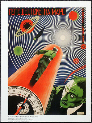 A Journey To Mars 1920S Russian Film Movie Poster Page . F104
