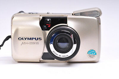 Olympus µ [mju:] Zoom 105 Compact 35mm Camera With Box & Instructions
