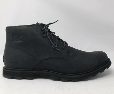 9a82c9d41 New $170 Sorel Mens Madson Chukka Boots Waterproof Leather Size 15 Black