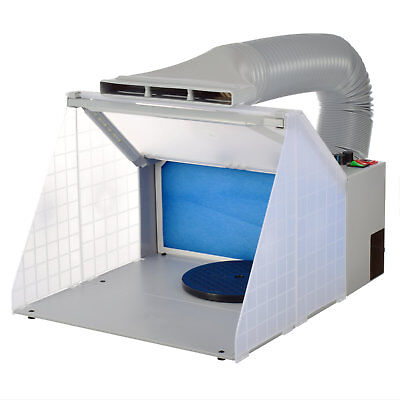 Portable Airbrushing Spray Booth & Extractor E420DCLBK with New LED Light