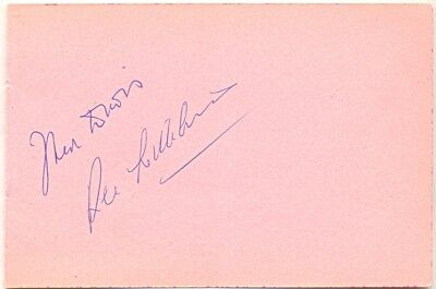 Fred Davis & Rex Williams signed autograph album page English snooker players