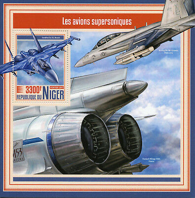 Niger 2017 MNH Supersonic Aircraft Soukhoi Su-35 1v S/S Aviation Stamps