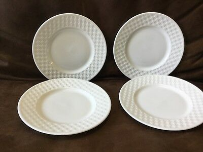 """New w/ Tags Set of 4 Wedgwood NIGHT & DAY Checkerboard 6"""" Bread & Butter Plates"""
