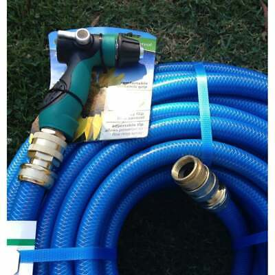 "Durable Garden Water Hose 50M With 18MM - 3/4"" Brass Fittings Water Gun Pistol"