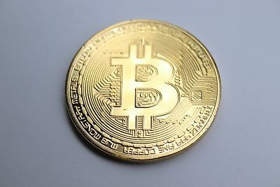 Commemorative Physical Copper Gold Plated Bitcoin Collector's Piece Souvenir
