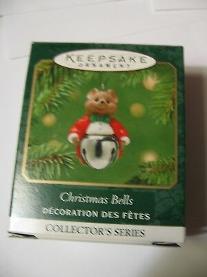 Hallmark Ornament Miniature MOUSE BELL - #7 IN SERIES CHRISTMAS BELLS Dated 2001