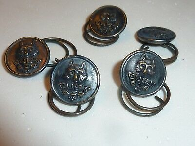 5 Vintage Metal Cub Scouts Boy Scouts Of America  Buttons