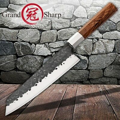 Kiritsuke Knife Handmade Chef Kitchen Knives Wood Handle Cooking Tools Pro