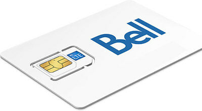2x BELL MOBILITY 4G LTE SIM CARDS - NANO MICRO STANDARD 3 IN 1 COMBO