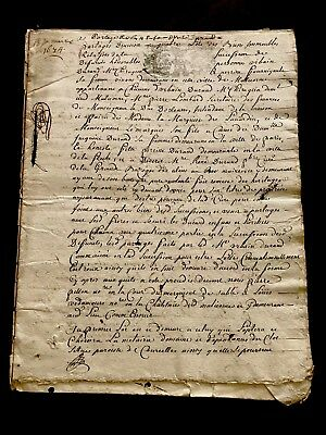 Very Old Document 1674 14 PAGES
