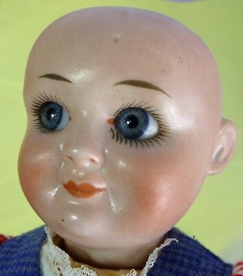ANTIQUE DEMALCOL GOOGLY, GERMANY 1900s, OLD DOLL, VINTAGE, BISQUE