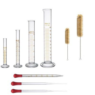 Ronyes Lifescience 9 Pc Thick Glass Graduated Measuring Cylinder Set