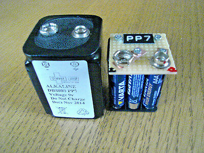 """Pp7 Battery """"no Wires"""" Adapter For Aaa Cells Transistor Radios Decca Hacker Bush"""