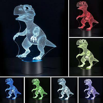 Lamp 3D Lamp LED 3D Night Light Touch Table Desk Light 7 Colors 3D