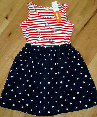 Gymboree Red White and Cute sequin star cotton summer dress NWT 12 girls July 4