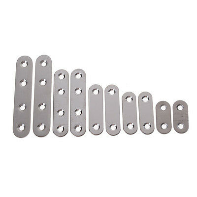 2x Stainless Steel Flat Corner Brace Fixed Angle Plate Connector Bracket PDH