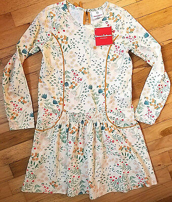 Nwt Hanna Andersson Ecru Garden Smocked Flora Floral Dress 150 12 New!
