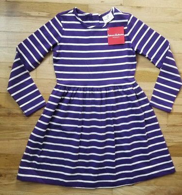 Nwt Hanna Andersson Purple Stripe Elisabet Dress 120 6 7 130 8 140 10 New!  $50