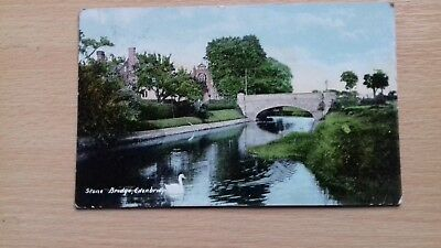 postcard, KENT, EDENBRIDGE, STONE BRIDGE, 1908