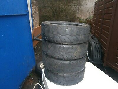 4 mobility scooter tyres 100x55x10 black
