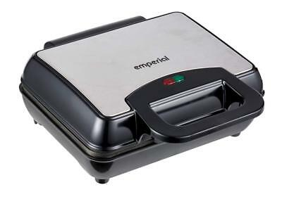 Emperial Belgian Waffle Maker Iron Machine 2 Slice Automatic Temp Control 1000W