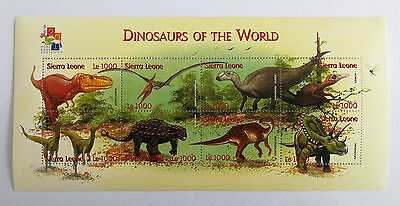 Sierra Leone 2001** Mi.Klb.3943-50. Dinosaurs of the World  [17;37]