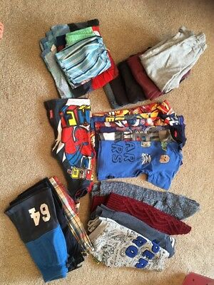 Big Bundle Of Boys Clothes Age 4-5 - Lots Of Superhero And Star Wars