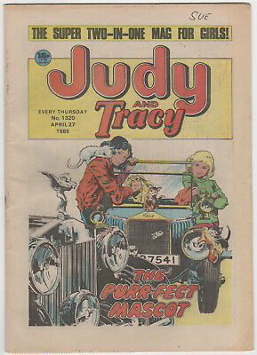 JUDY & TRACY Girls Comic 27th April 1985 Number 1320 32 Pages - Vintage