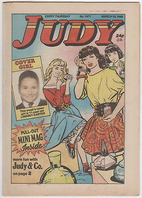 JUDY Girls Comic 19th March 1988 Number 1471 32 Pages - Vintage