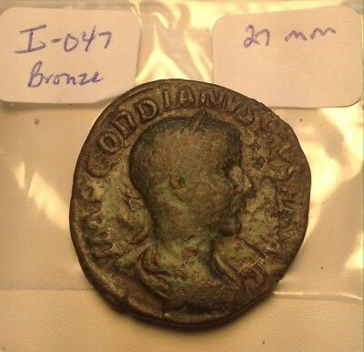 Ancient Roman Large Bronze 27mm Gordian Sisters Coin In Really Great Shape!
