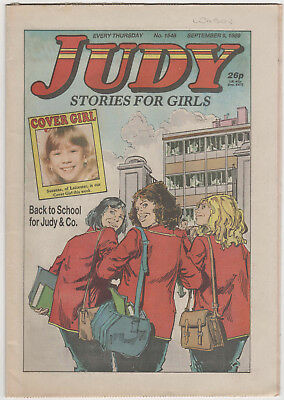 JUDY Girls Comic 9th September 1989 Number 1548 32 Pages - Vintage